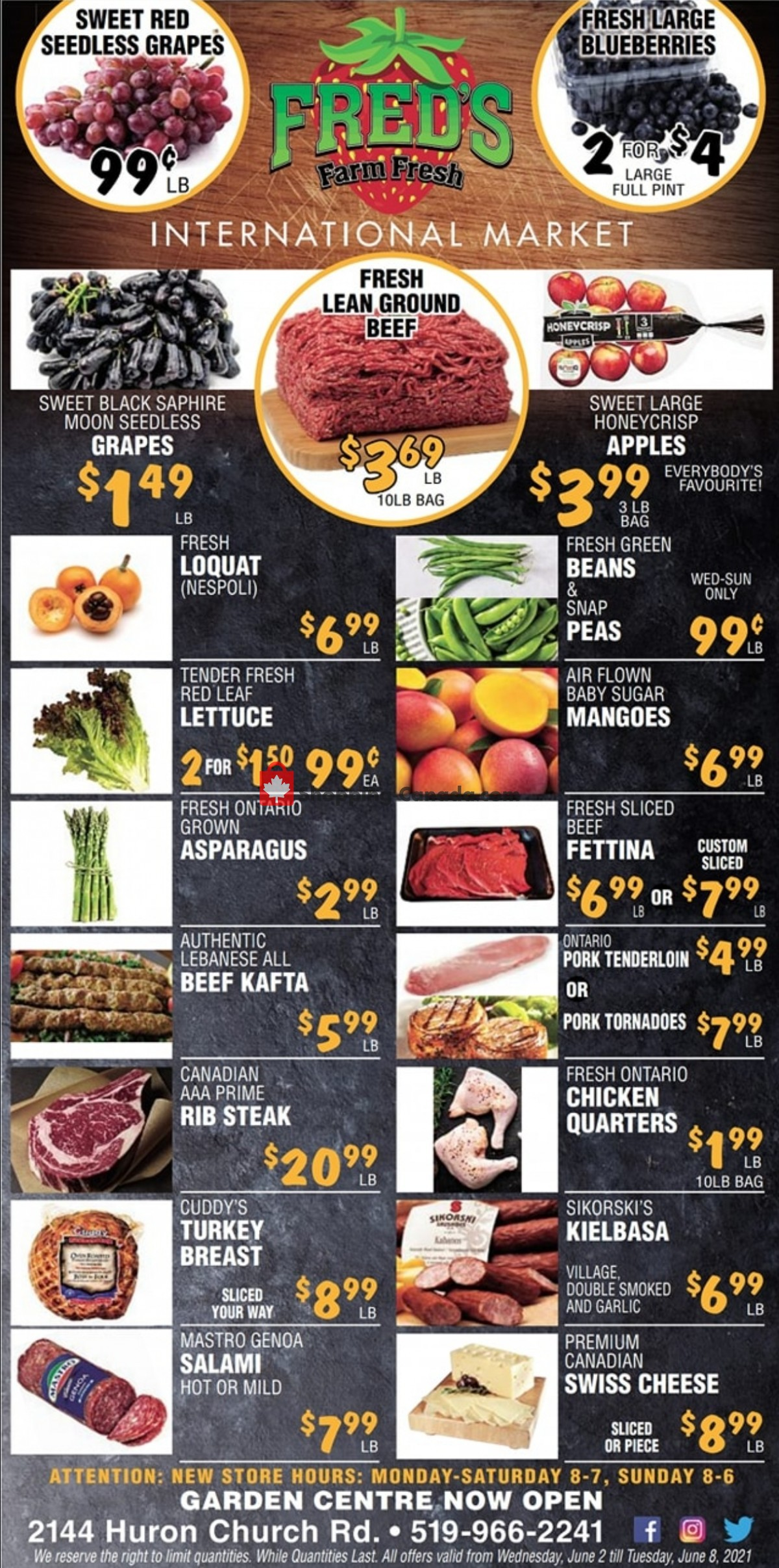 Flyer Fred's Farm Fresh Canada - from Wednesday June 2, 2021 to Tuesday June 8, 2021