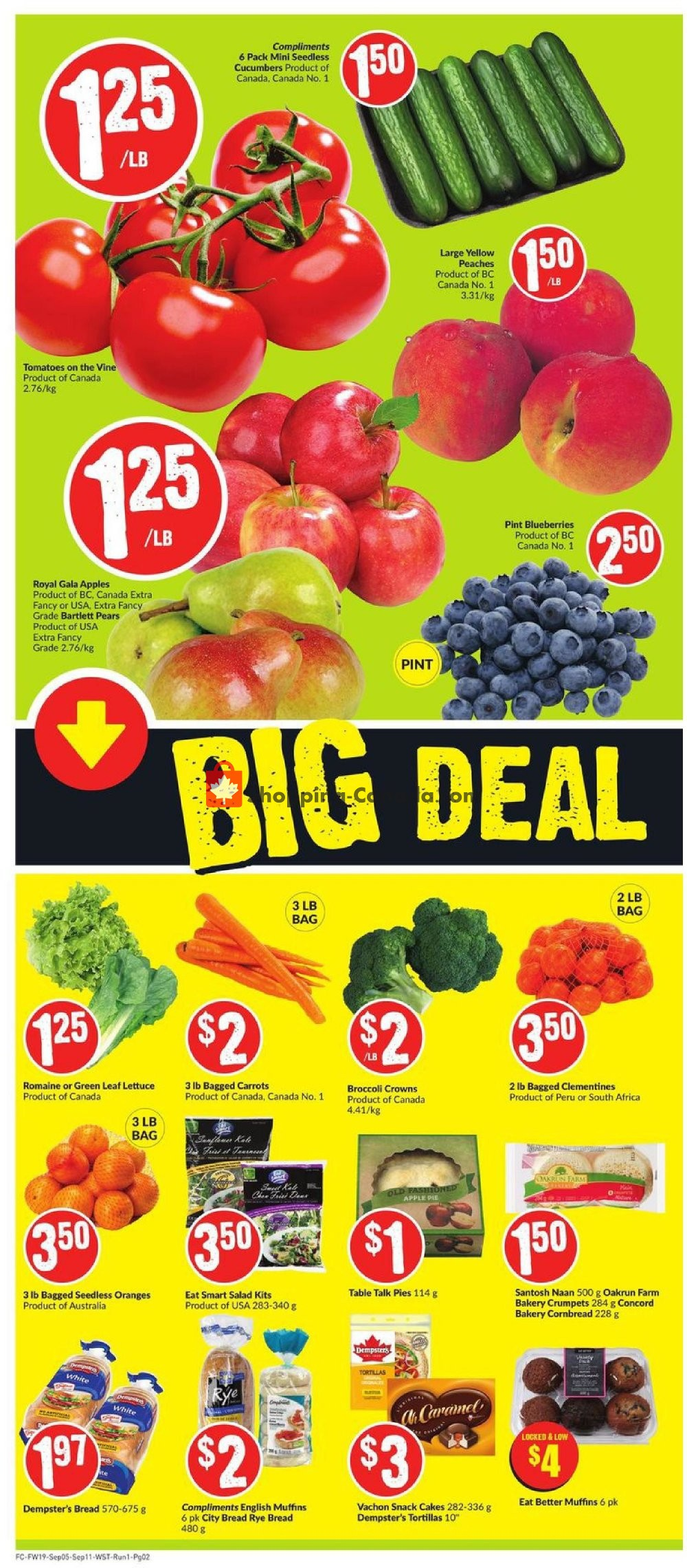 Flyer FreshCo Canada - from Thursday September 5, 2019 to Wednesday September 11, 2019