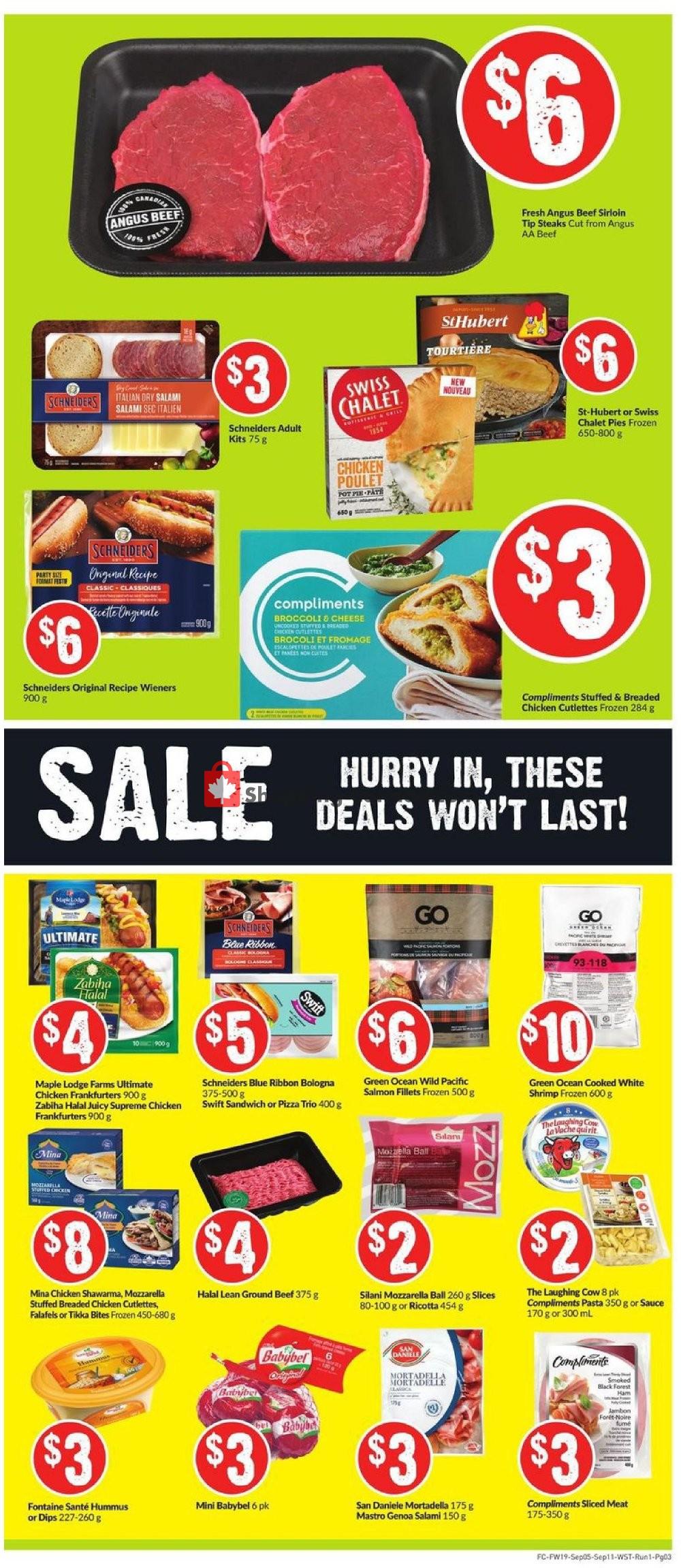 Flyer Fresh Co. Canada - from Thursday September 5, 2019 to Wednesday September 11, 2019