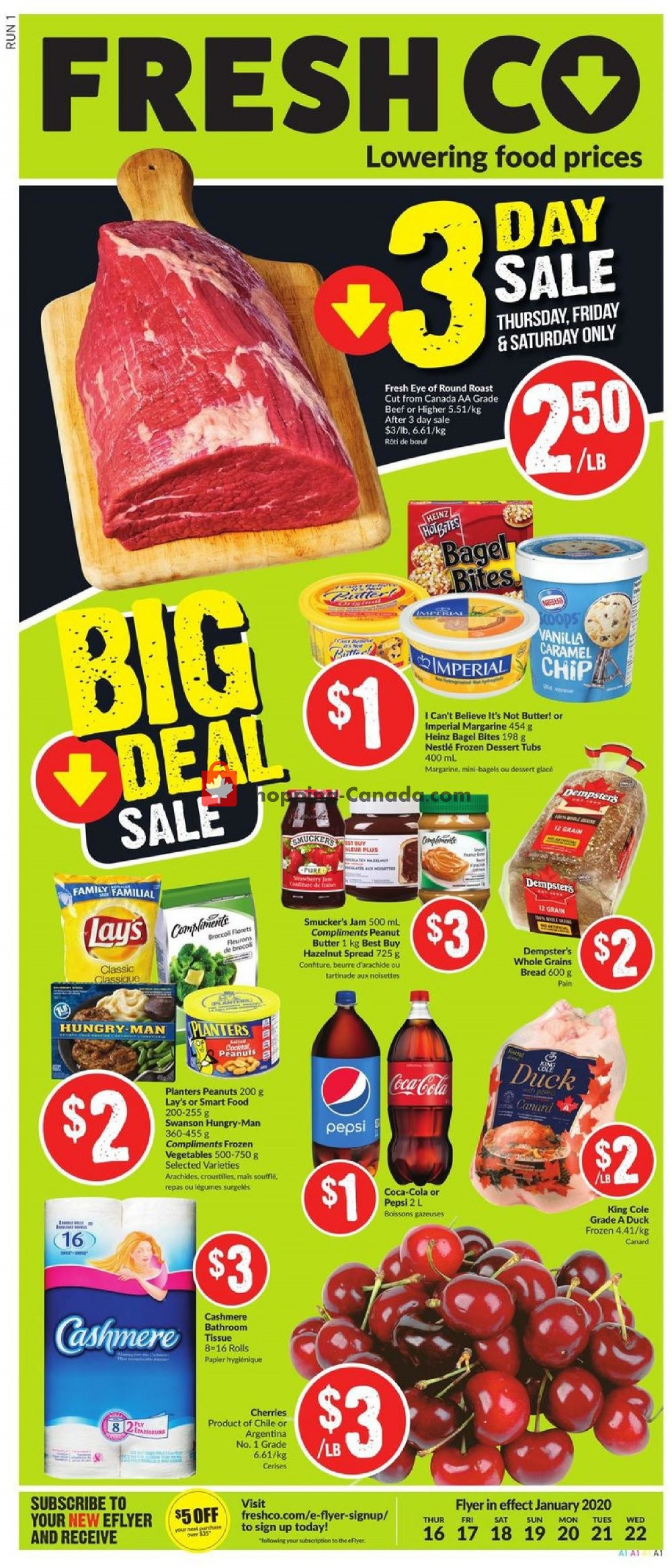 Flyer Fresh Co. Canada - from Thursday January 16, 2020 to Wednesday January 22, 2020