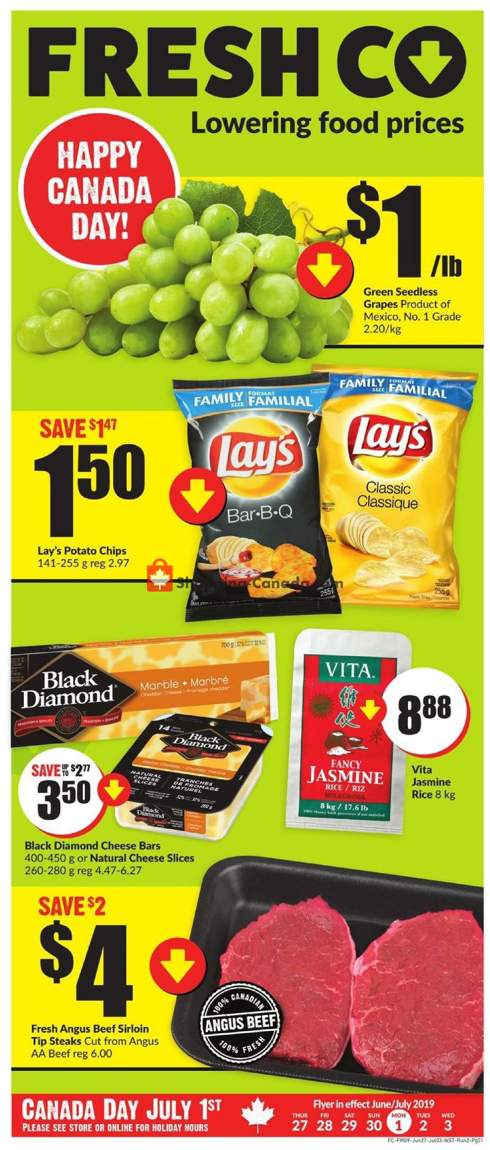 Flyer FreshCo Canada - from Thursday June 27, 2019 to Wednesday July 3, 2019