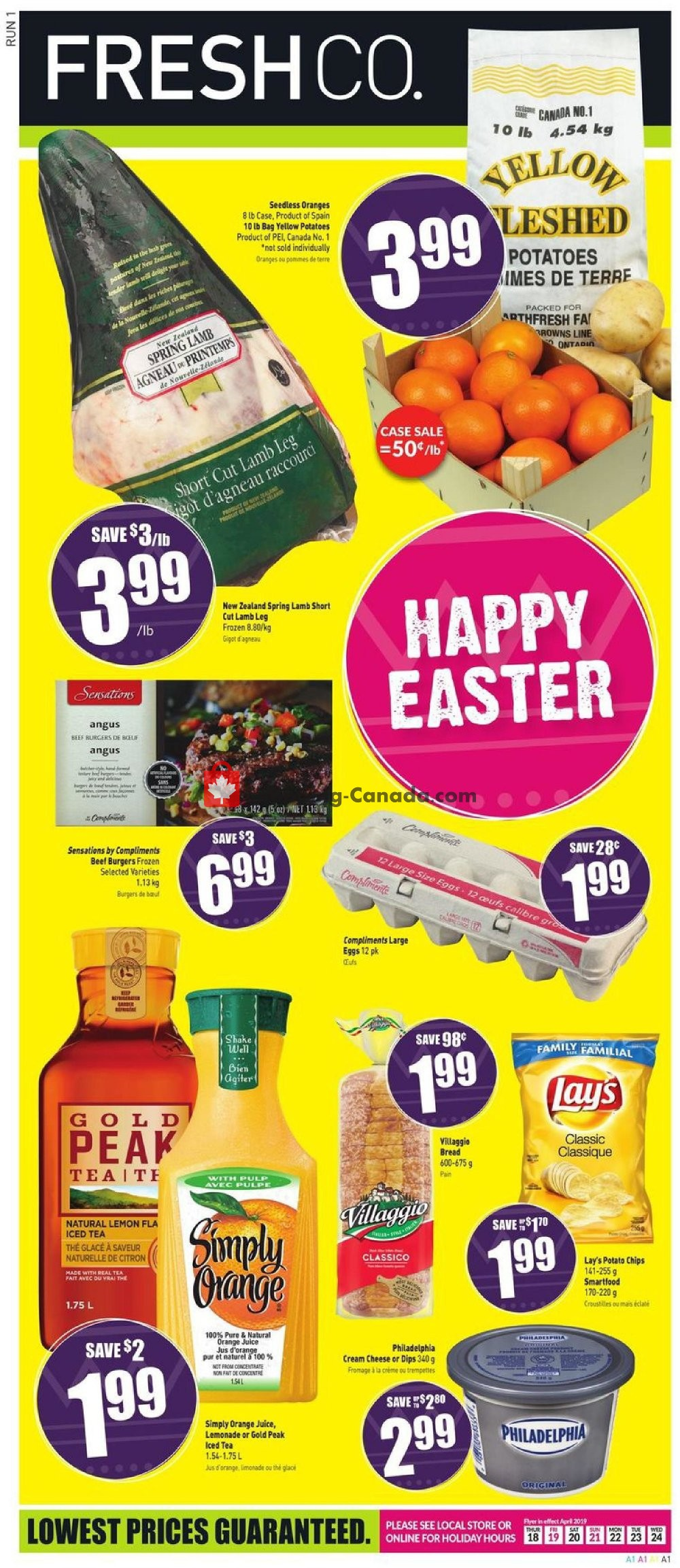 Flyer FreshCo Canada - from Thursday April 18, 2019 to Wednesday April 24, 2019