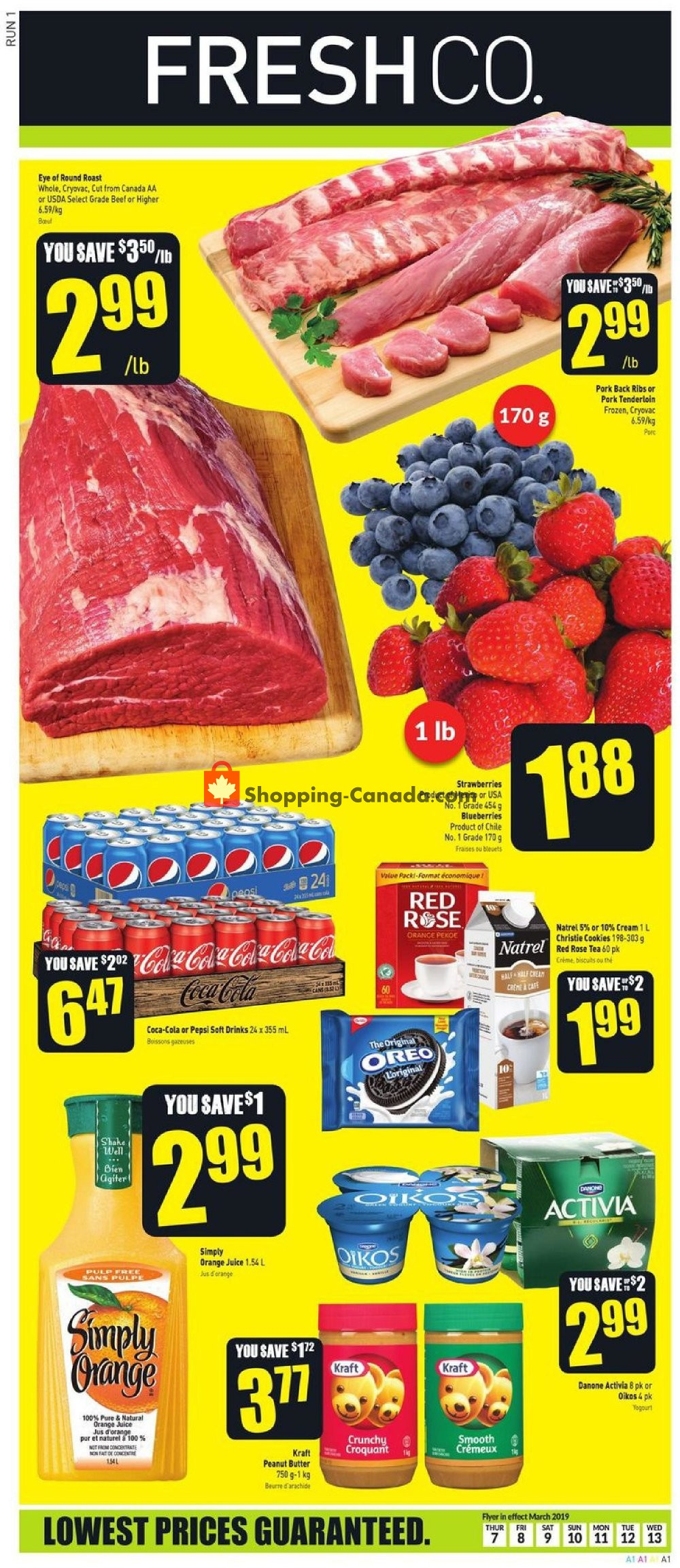 Flyer FreshCo Canada - from Thursday March 7, 2019 to Wednesday March 13, 2019