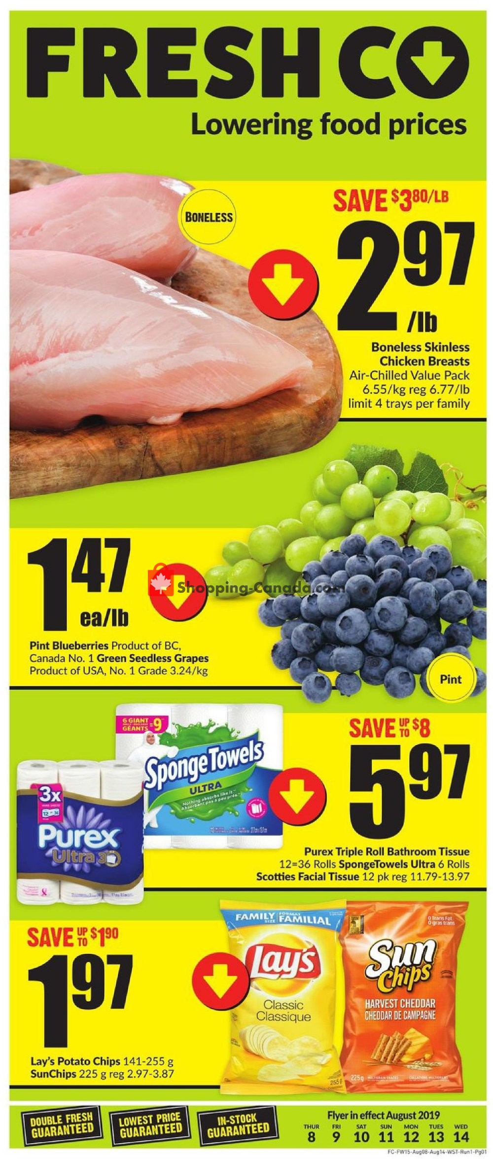 Flyer FreshCo Canada - from Thursday August 8, 2019 to Wednesday August 14, 2019