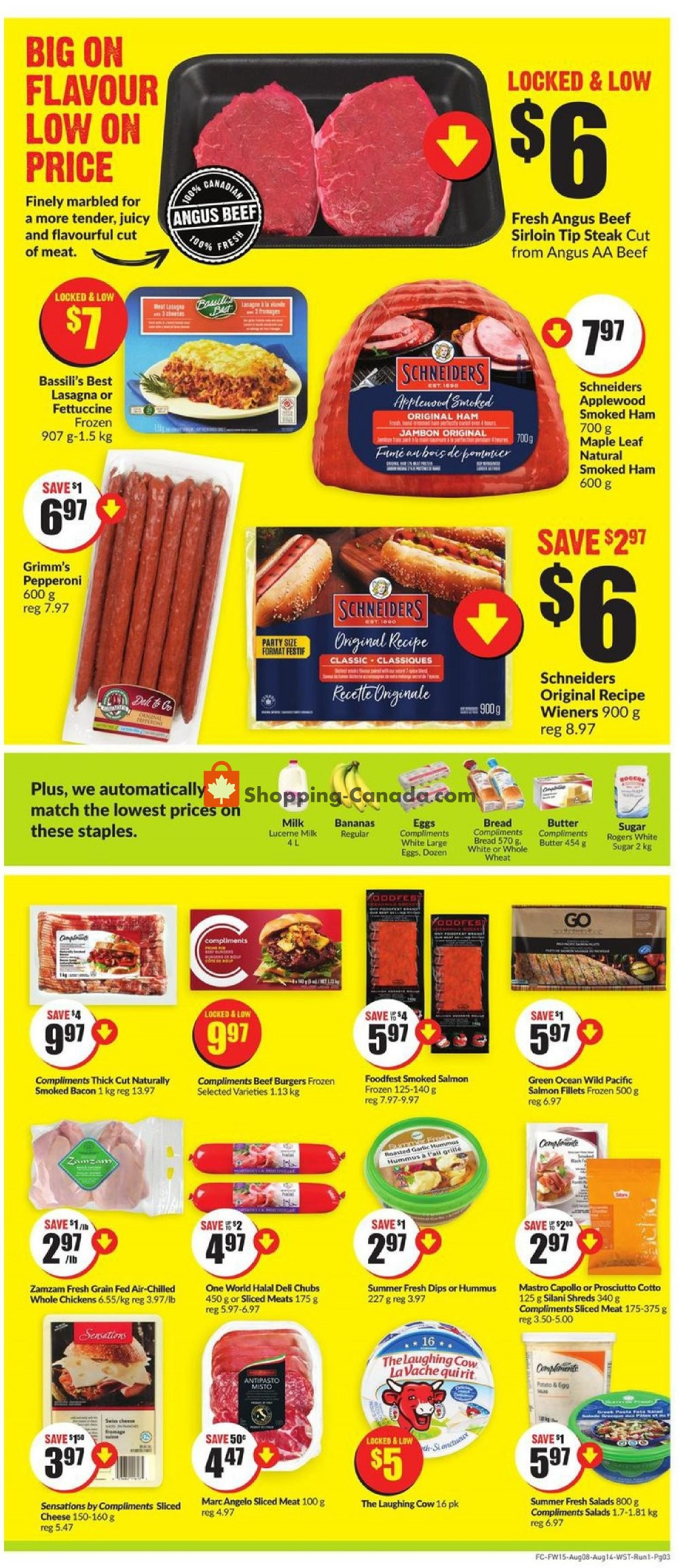 Flyer Fresh Co. Canada - from Thursday August 8, 2019 to Wednesday August 14, 2019