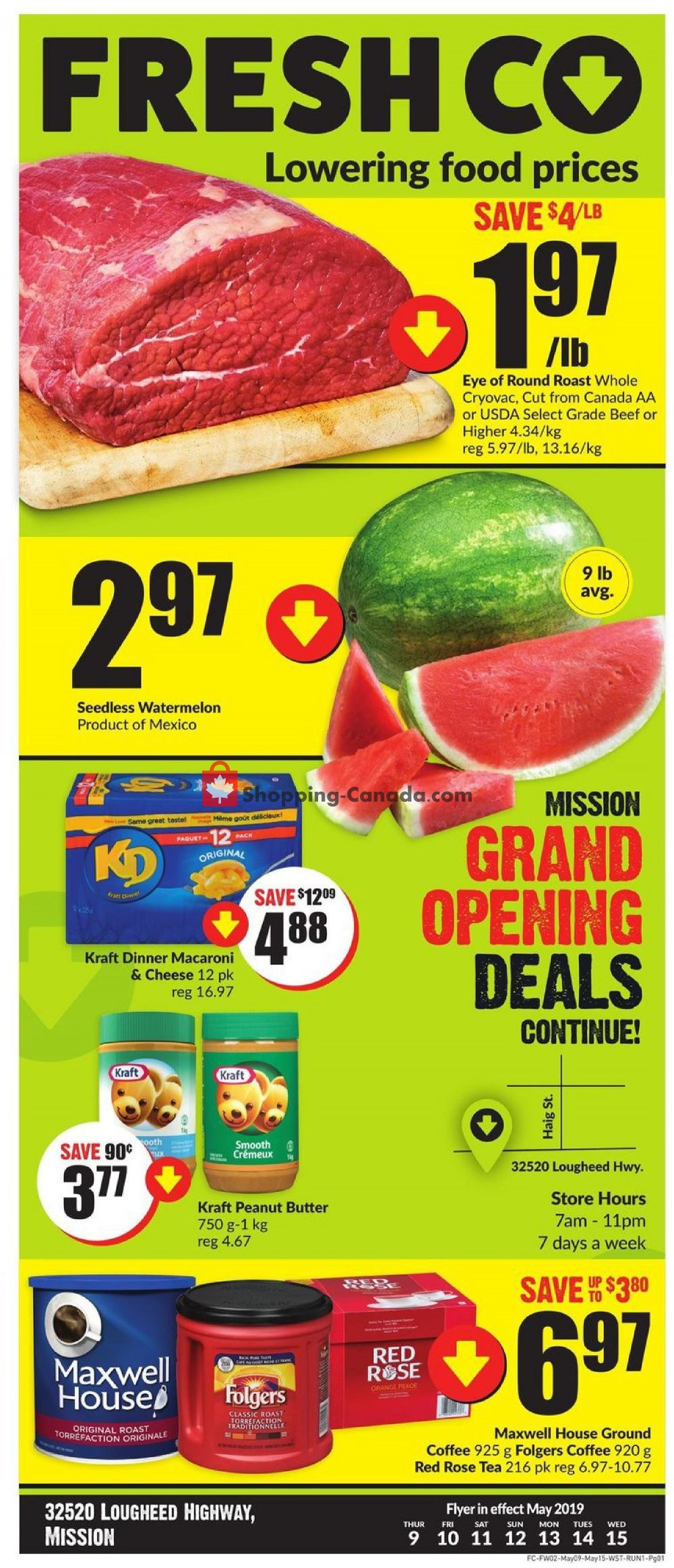 Flyer FreshCo Canada - from Thursday May 9, 2019 to Wednesday May 15, 2019