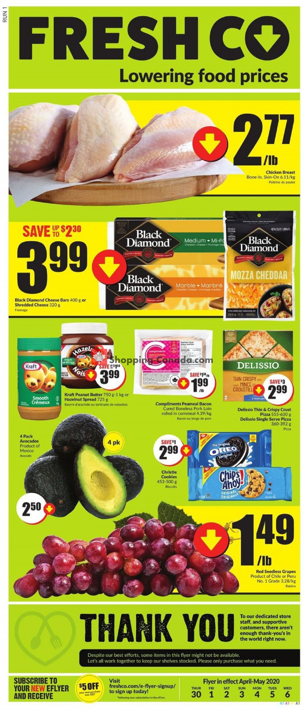 Flyer FreshCo Canada - from Thursday April 30, 2020 to Wednesday May 6, 2020