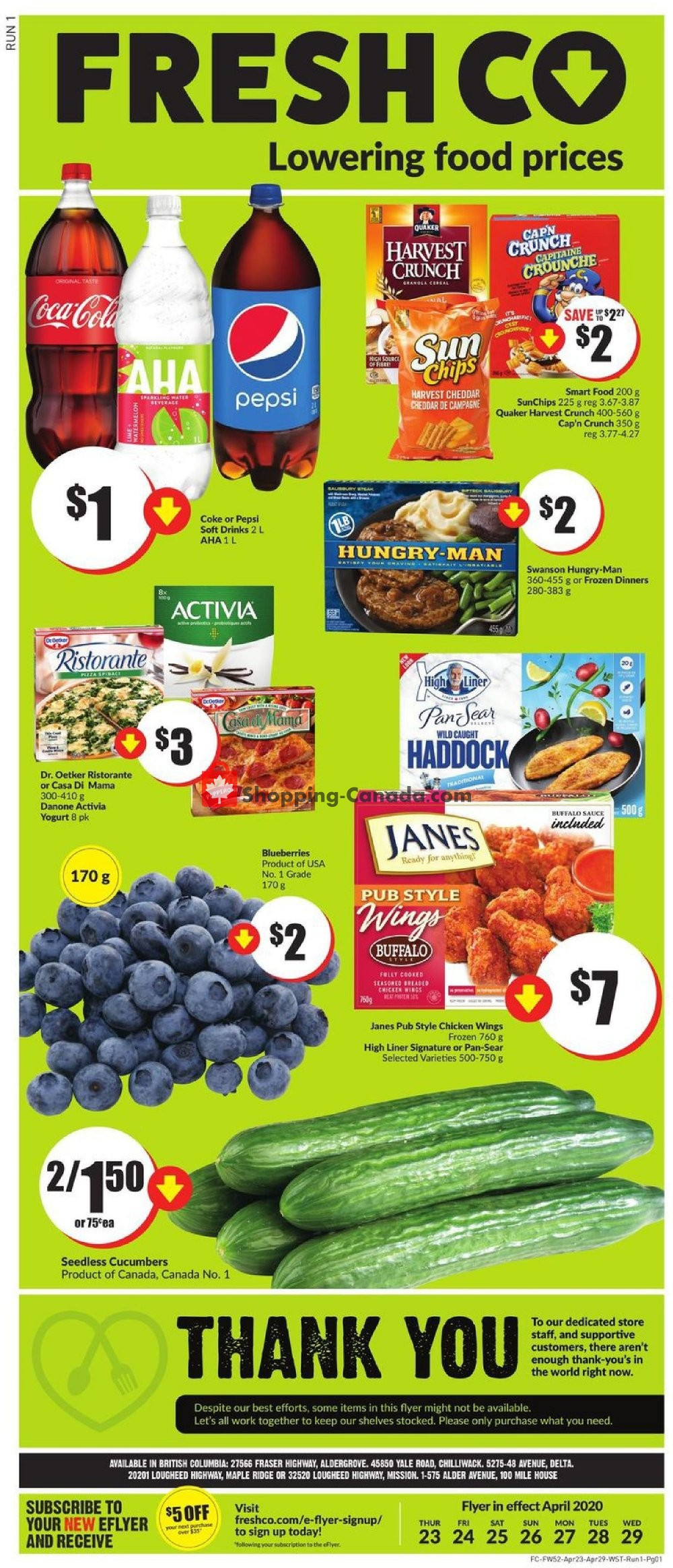 Flyer FreshCo Canada - from Thursday April 23, 2020 to Wednesday April 29, 2020