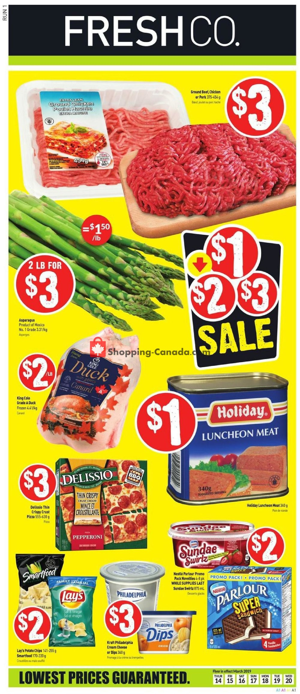 Flyer FreshCo Canada - from Thursday March 14, 2019 to Wednesday March 20, 2019