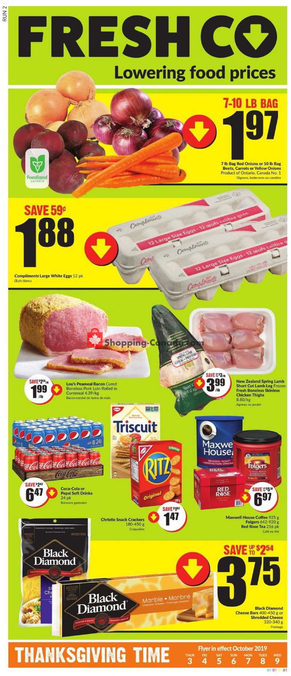 Flyer FreshCo Canada - from Thursday October 3, 2019 to Wednesday October 9, 2019