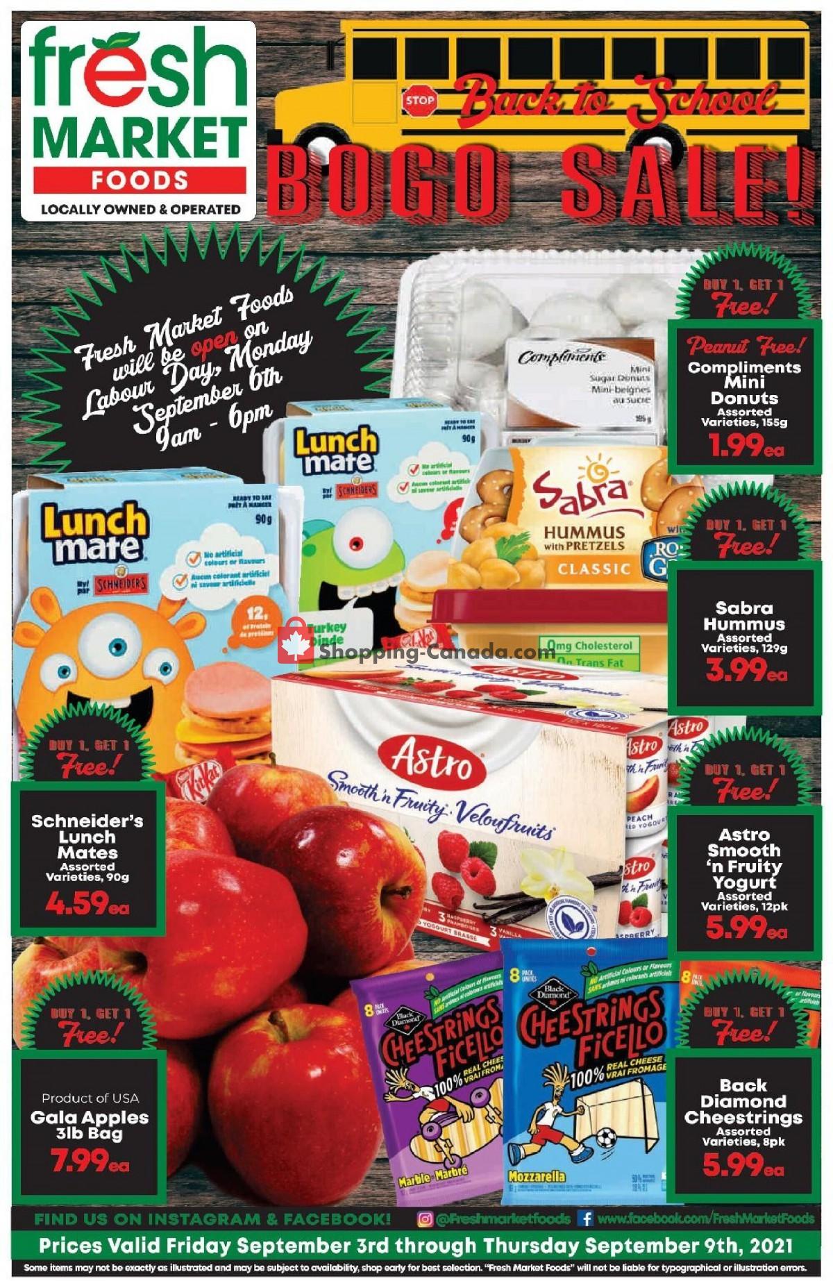 Flyer Fresh Market Foods Canada - from Friday September 3, 2021 to Thursday September 9, 2021