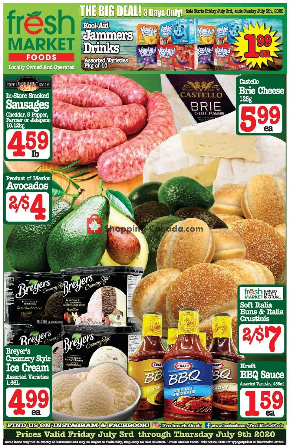 Flyer Fresh Market Foods Canada - from Friday July 3, 2020 to Thursday July 9, 2020
