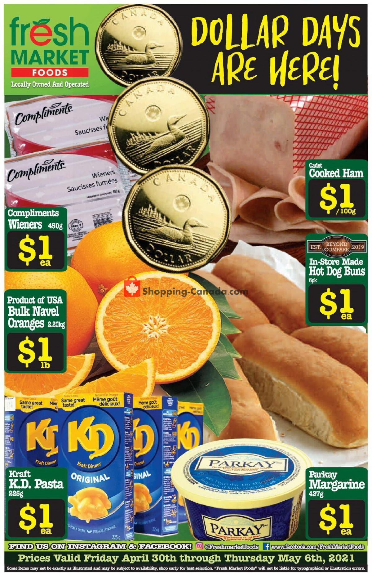 Flyer Fresh Market Foods Canada - from Friday April 30, 2021 to Thursday May 6, 2021