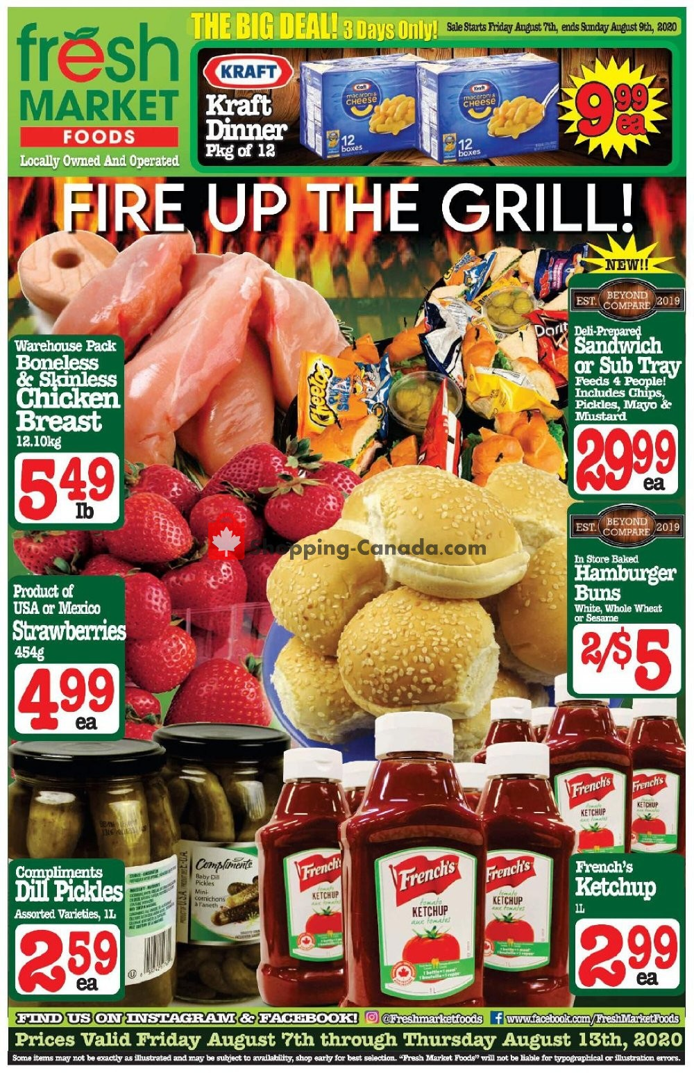Flyer Fresh Market Foods Canada - from Friday August 7, 2020 to Thursday August 13, 2020