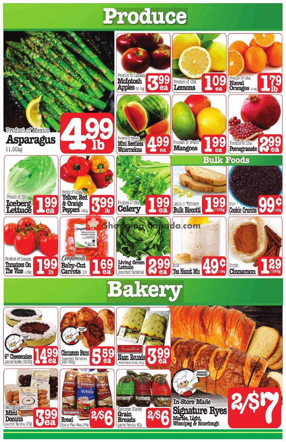 Flyer Fresh Market Foods Canada - from Friday November 8, 2019 to Thursday November 14, 2019