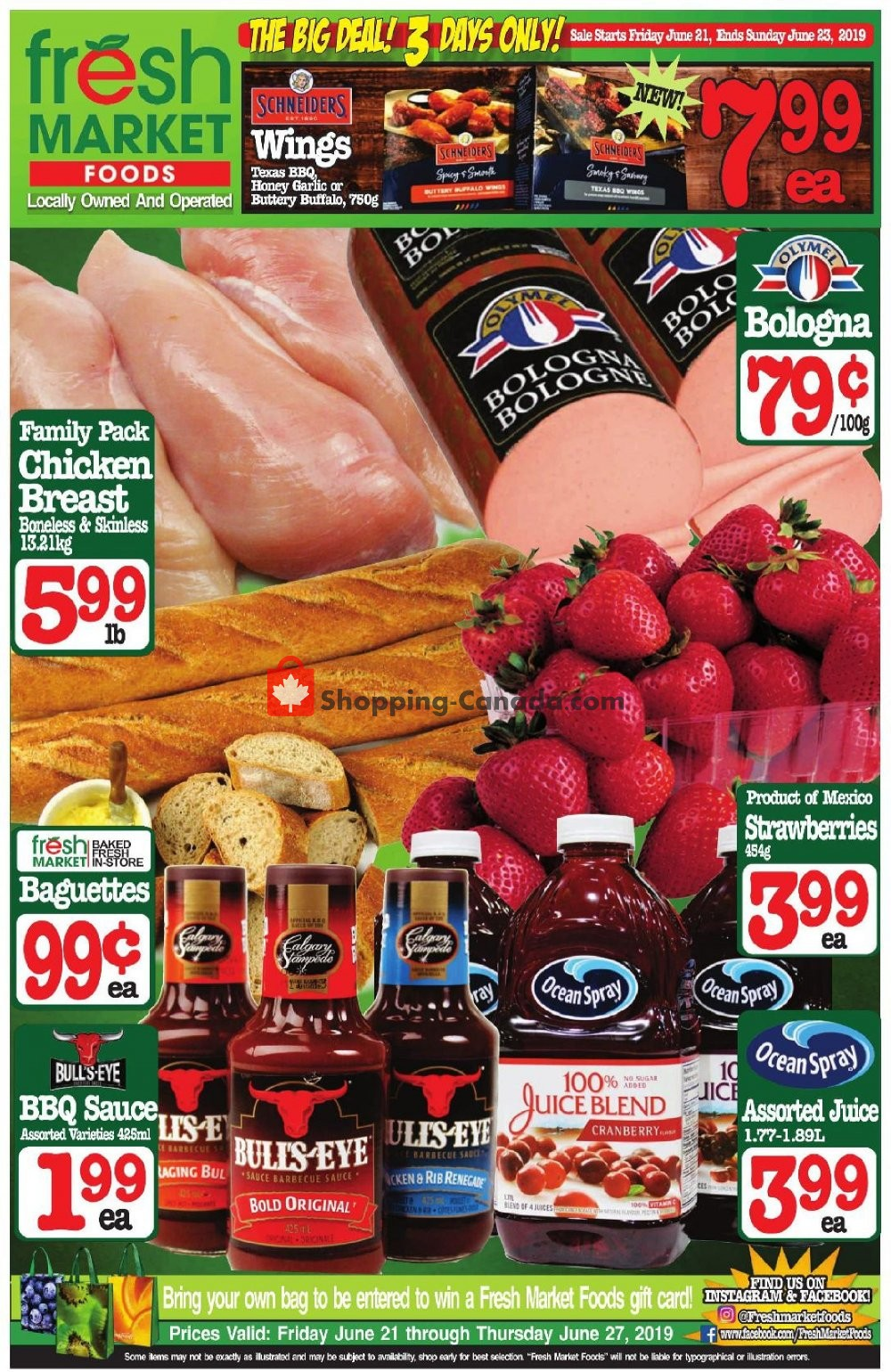 Flyer Fresh Market Foods Canada - from Friday June 21, 2019 to Thursday June 27, 2019
