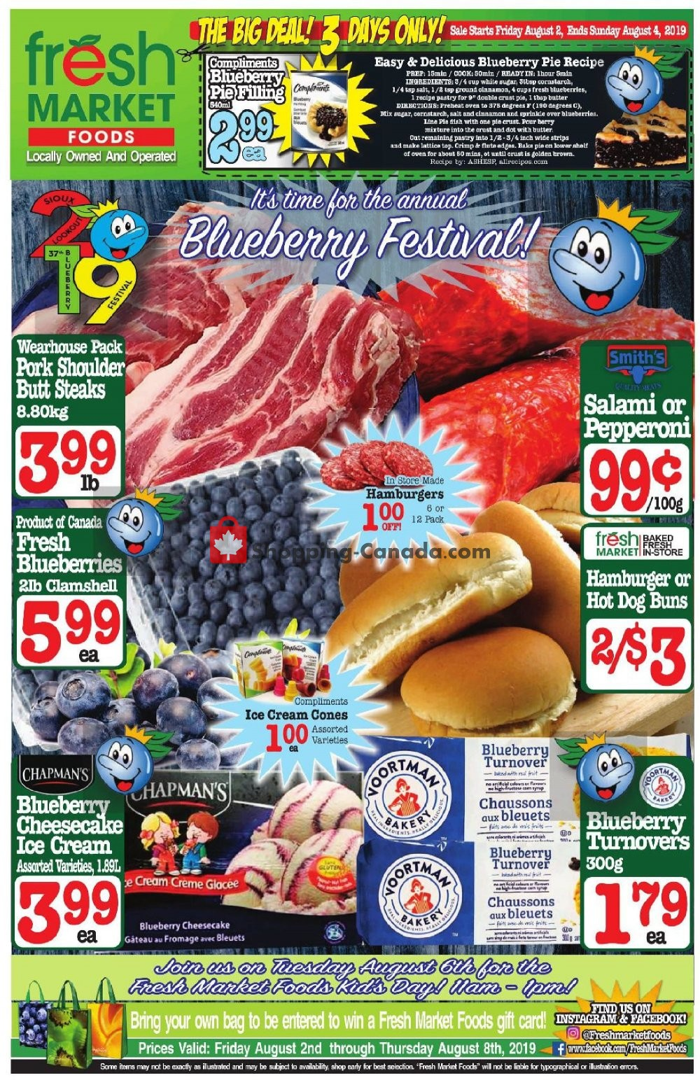 Flyer Fresh Market Foods Canada - from Friday August 2, 2019 to Thursday August 8, 2019