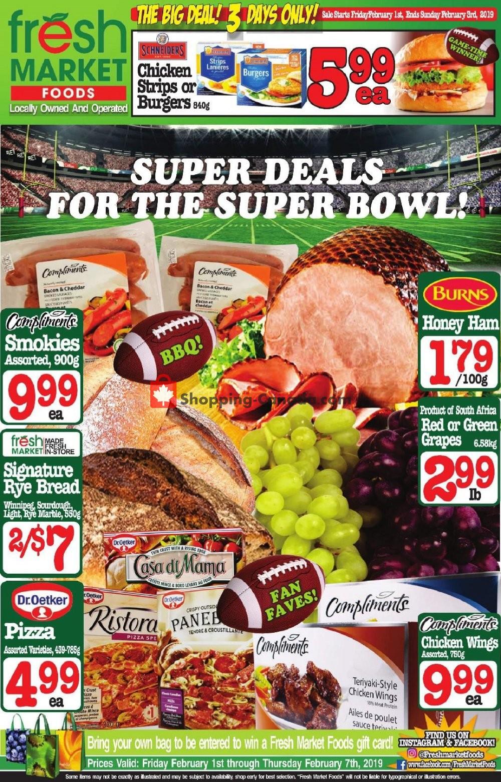 Flyer Fresh Market Foods Canada - from Friday February 1, 2019 to Sunday February 3, 2019