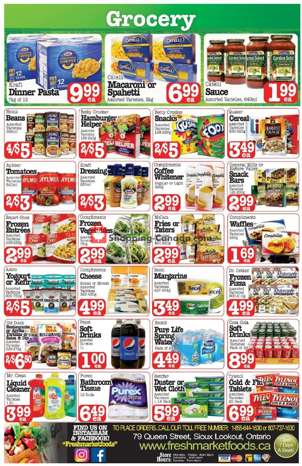 Flyer Fresh Market Foods Canada - from Friday January 10, 2020 to Thursday January 16, 2020
