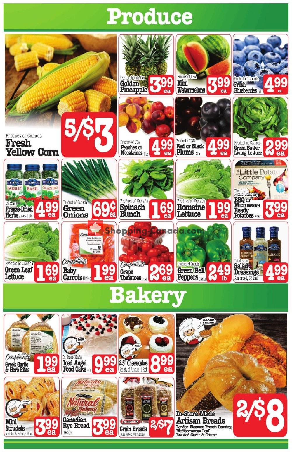Flyer Fresh Market Foods Canada - from Friday July 19, 2019 to Thursday July 25, 2019