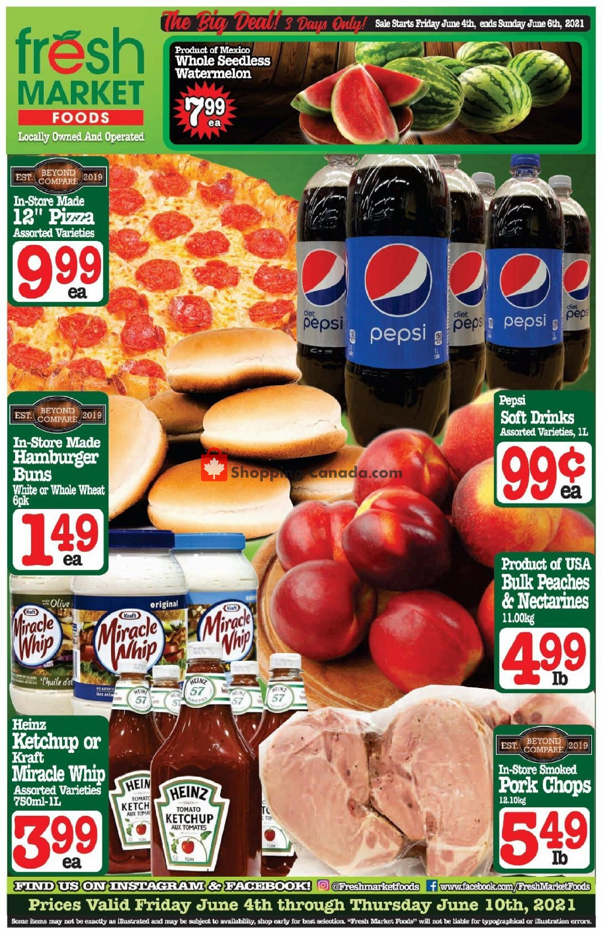 Flyer Fresh Market Foods Canada - from Friday June 4, 2021 to Thursday June 10, 2021