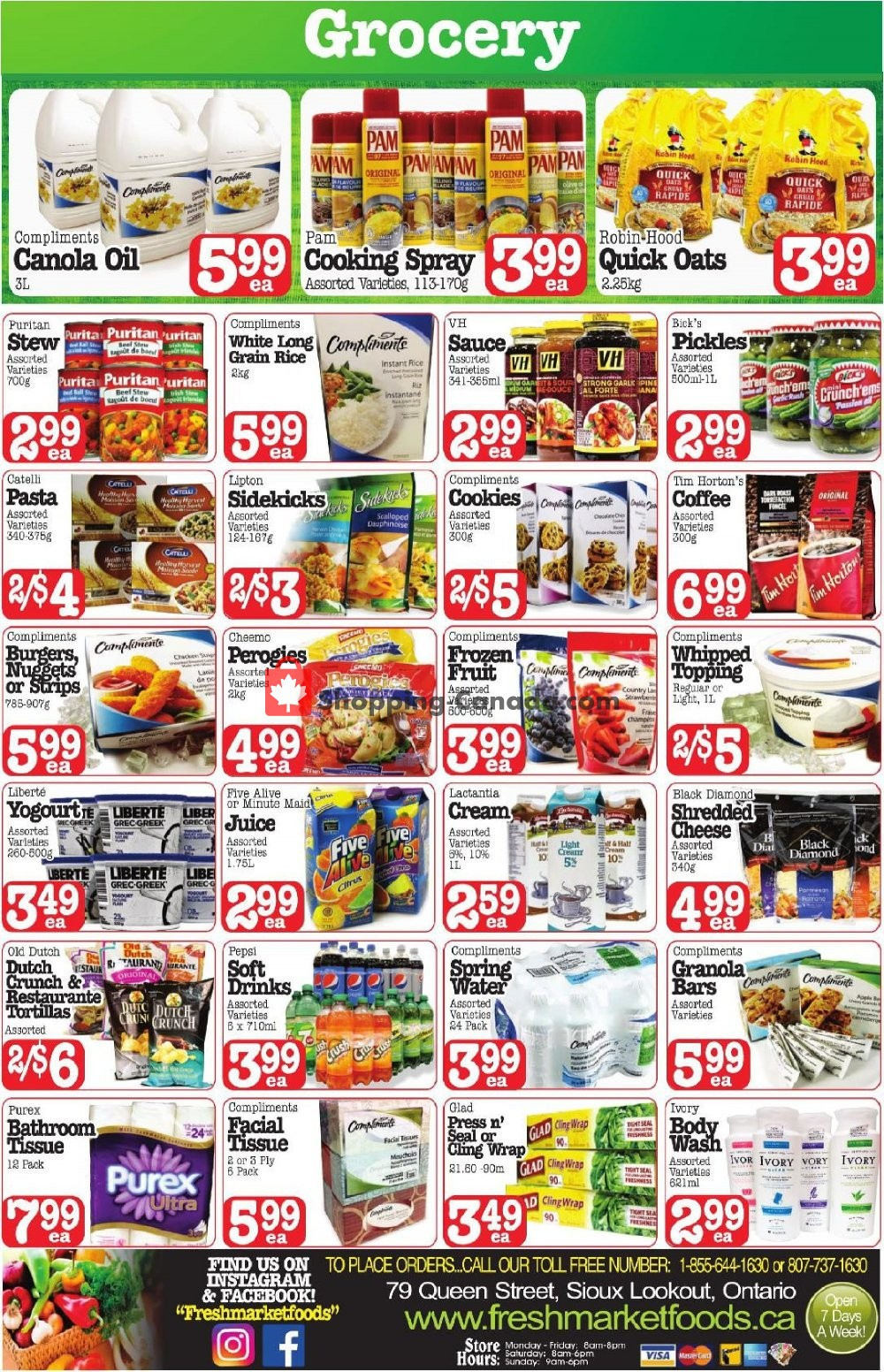 Flyer Fresh Market Foods Canada - from Friday March 15, 2019 to Sunday March 17, 2019
