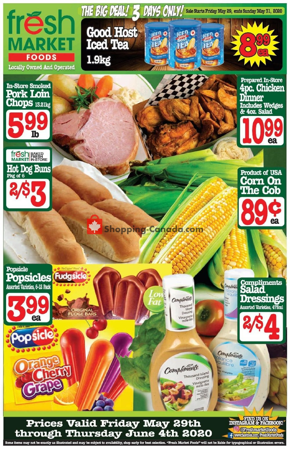 Flyer Fresh Market Foods Canada - from Friday May 29, 2020 to Thursday June 4, 2020
