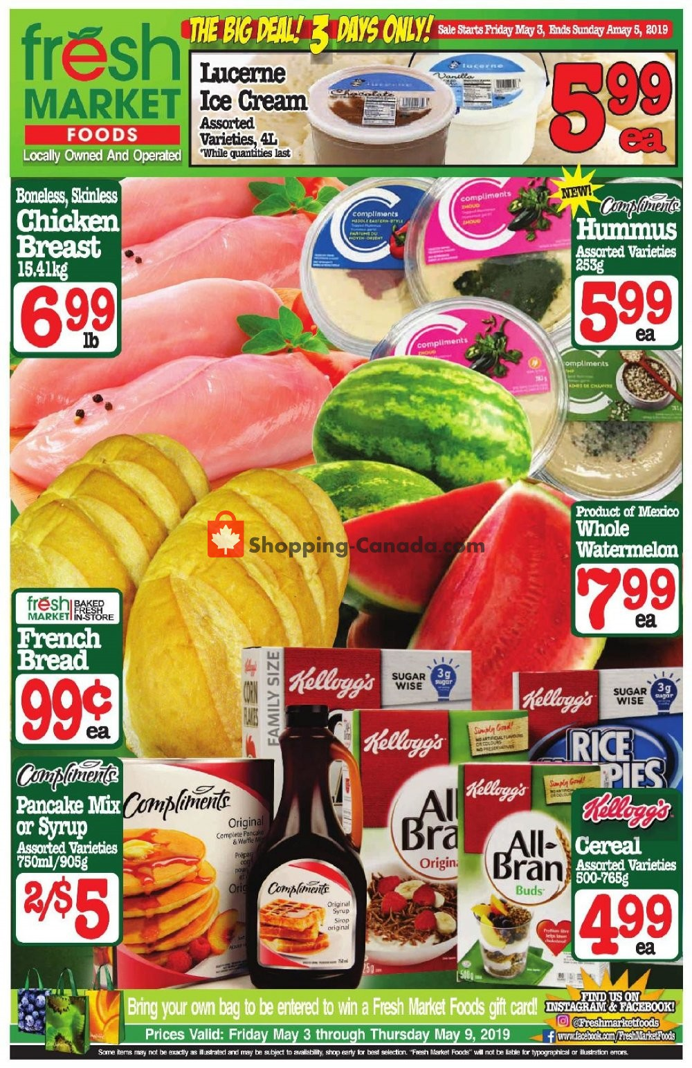 Flyer Fresh Market Foods Canada - from Friday May 3, 2019 to Sunday May 5, 2019