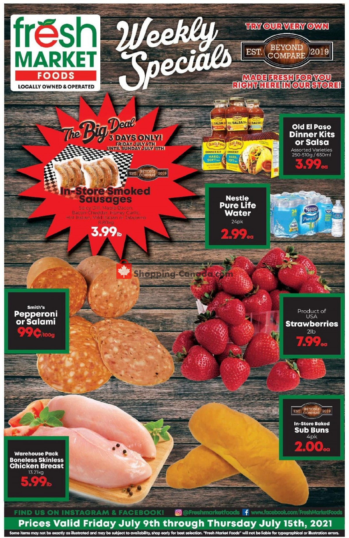 Flyer Fresh Market Foods Canada - from Friday July 9, 2021 to Thursday July 15, 2021