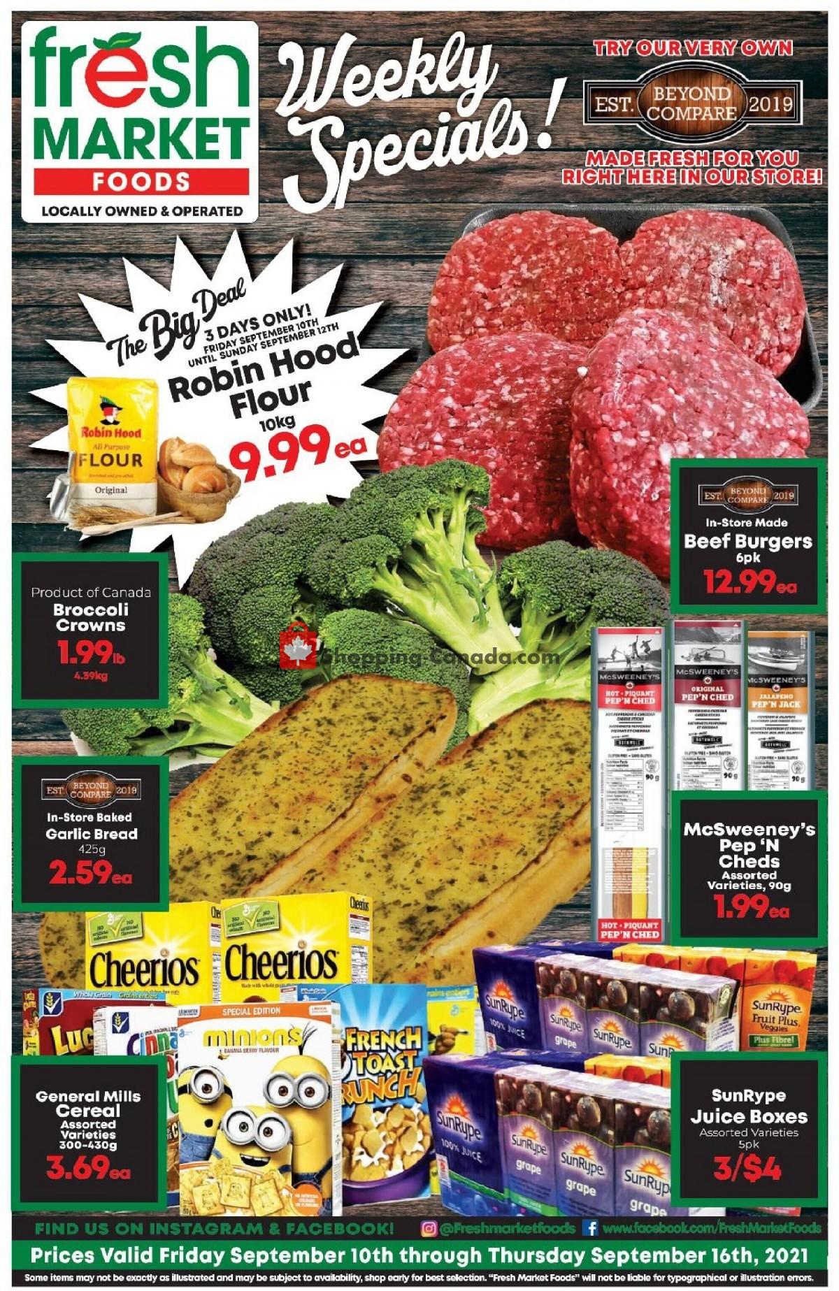 Flyer Fresh Market Foods Canada - from Friday September 10, 2021 to Thursday September 16, 2021