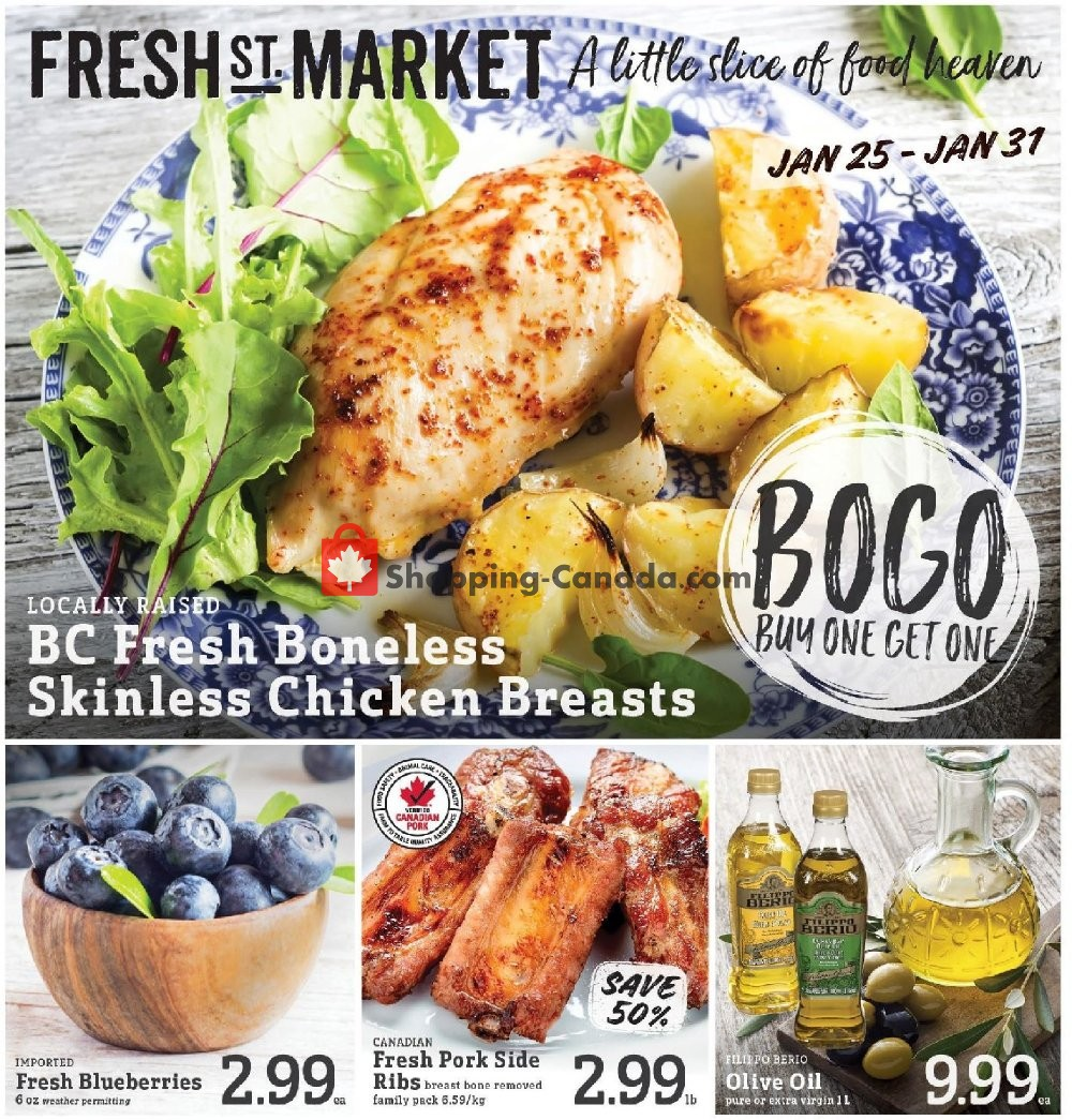Flyer Fresh St. Market Canada - from Friday January 25, 2019 to Thursday January 31, 2019
