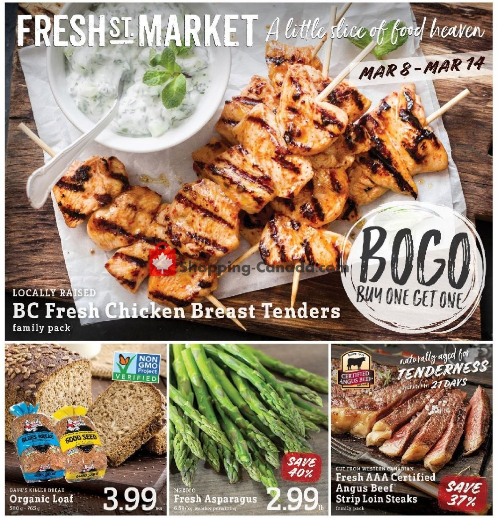 Flyer Fresh St. Market Canada - from Friday March 8, 2019 to Thursday March 14, 2019