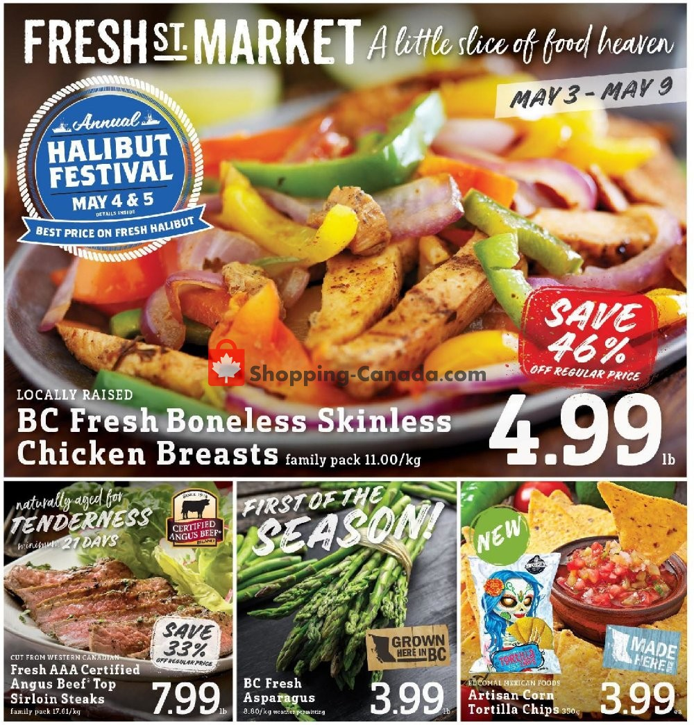 Flyer Fresh St. Market Canada - from Friday May 3, 2019 to Thursday May 9, 2019