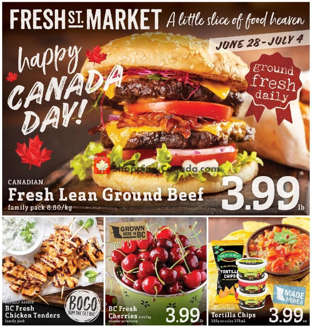 Flyer Fresh St. Market Canada - from Friday June 28, 2019 to Thursday July 4, 2019