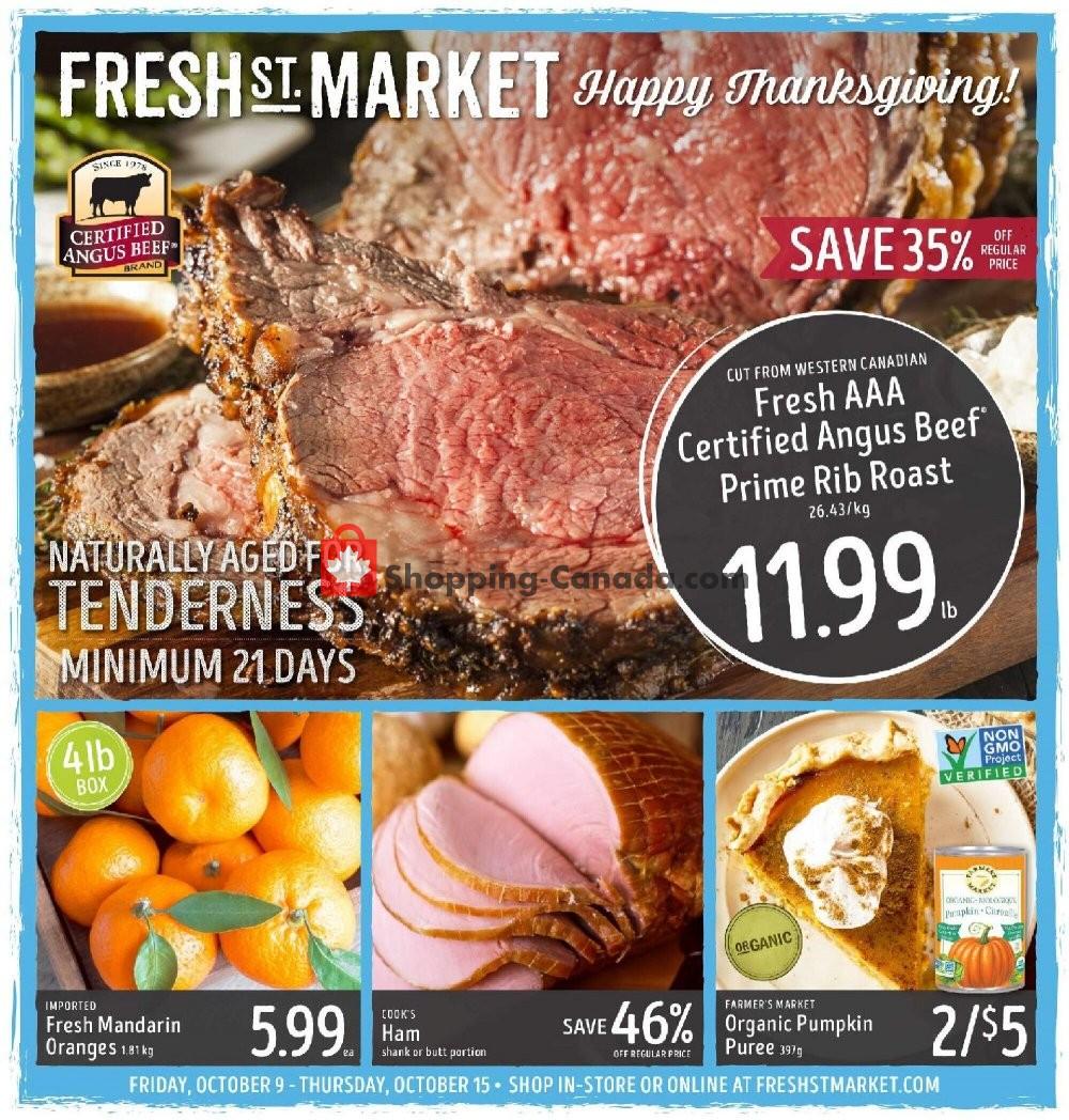 Flyer Fresh St. Market Canada - from Friday October 9, 2020 to Thursday October 15, 2020