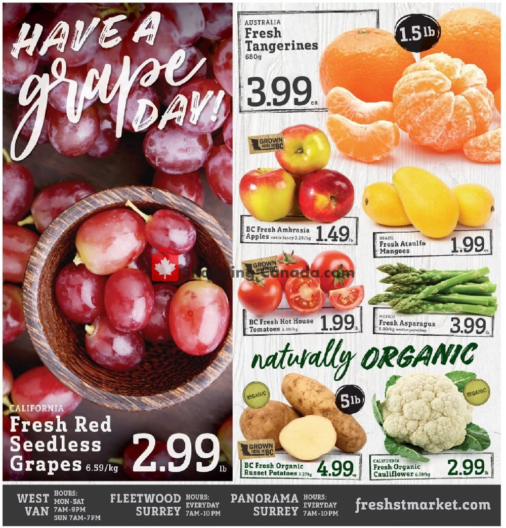 Flyer Fresh St. Market Canada - from Friday November 8, 2019 to Thursday November 14, 2019