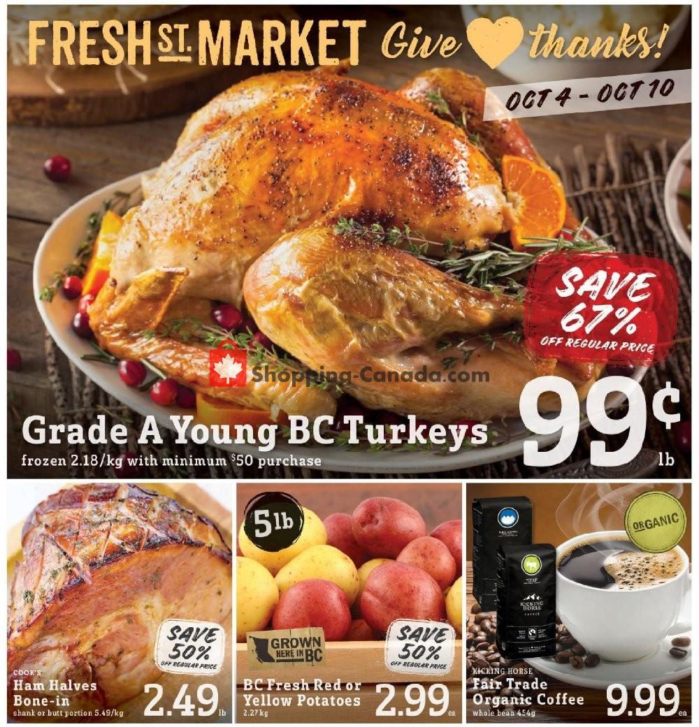 Flyer Fresh St. Market Canada - from Friday October 4, 2019 to Thursday October 10, 2019