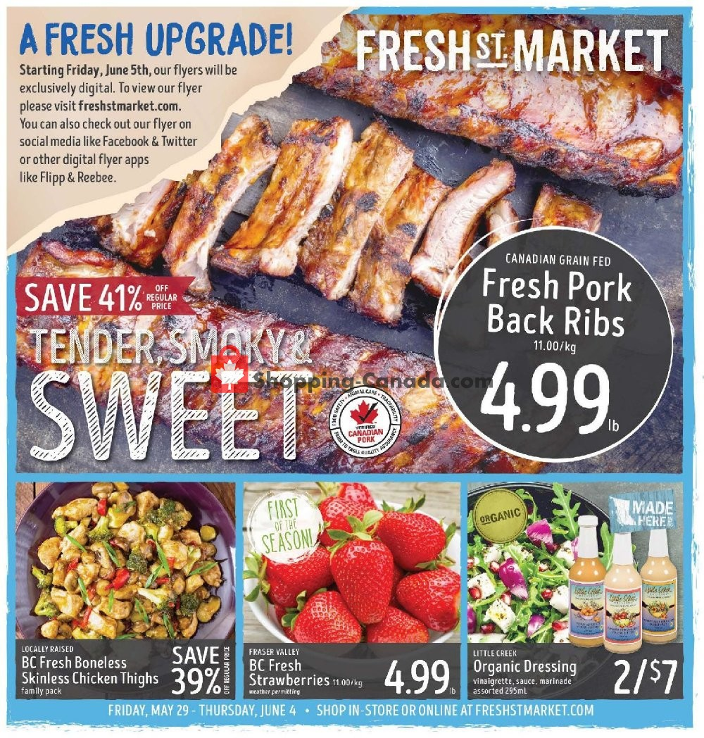 Flyer Fresh St. Market Canada - from Friday May 29, 2020 to Thursday June 4, 2020