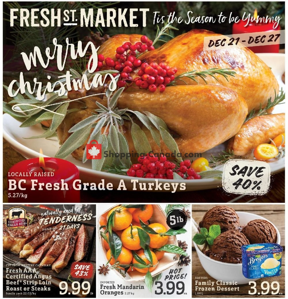 Flyer Fresh St. Market Canada - from Friday December 21, 2018 to Thursday December 27, 2018