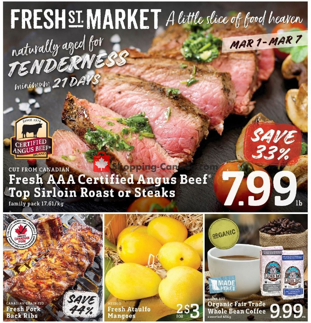 Flyer Fresh St. Market Canada - from Friday March 1, 2019 to Thursday March 7, 2019