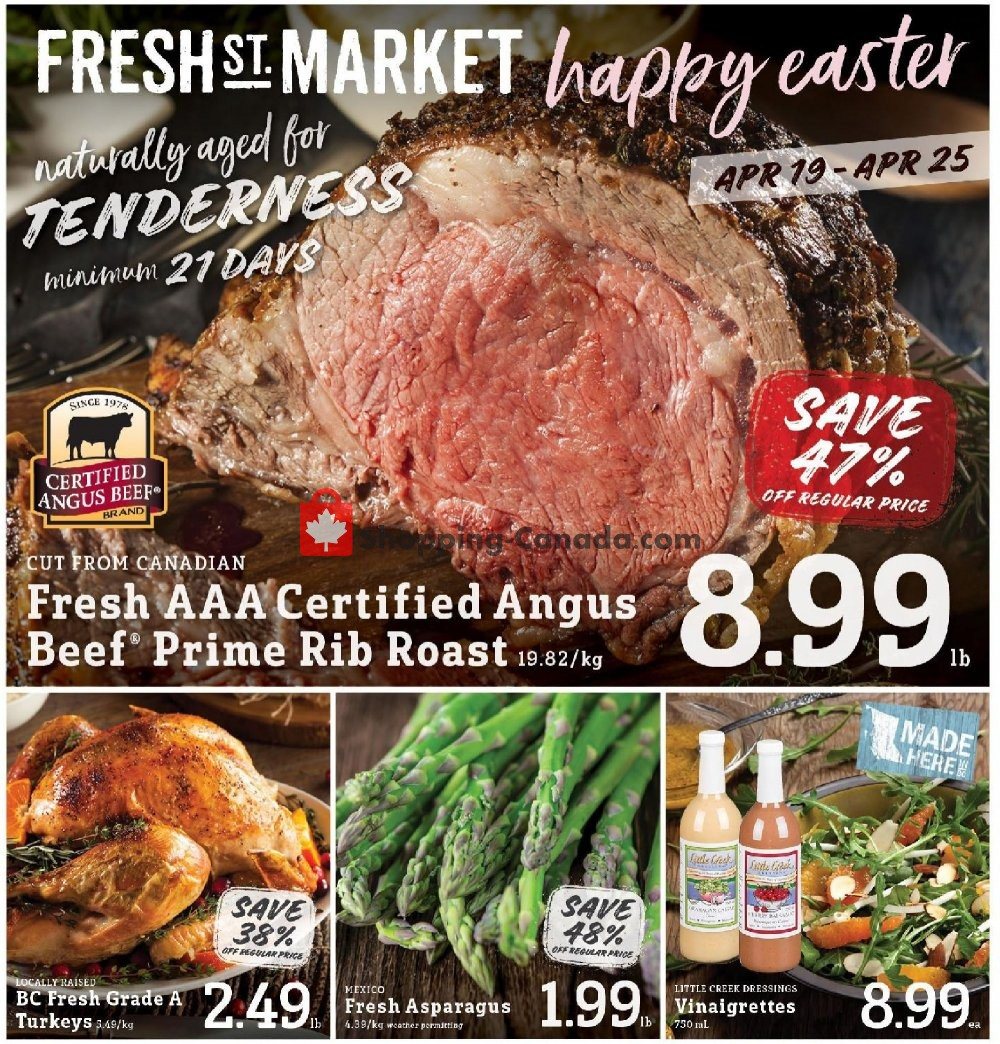 Flyer Fresh St. Market Canada - from Friday April 19, 2019 to Thursday April 25, 2019