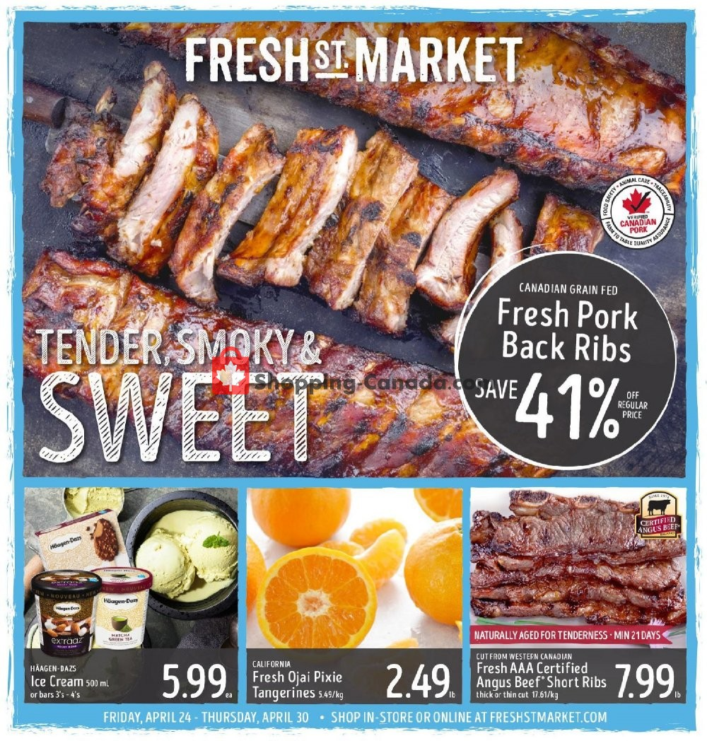 Flyer Fresh St. Market Canada - from Friday April 24, 2020 to Thursday April 30, 2020