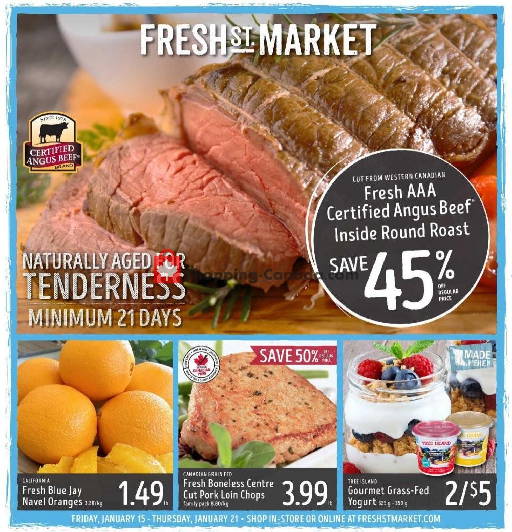 Flyer Fresh St. Market Canada - from Friday January 15, 2021 to Thursday January 21, 2021