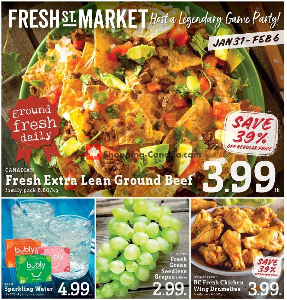 Flyer Fresh St. Market Canada - from Friday January 31, 2020 to Thursday February 6, 2020