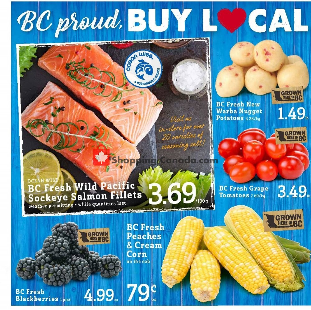 Flyer Fresh St. Market Canada - from Friday July 19, 2019 to Thursday July 25, 2019