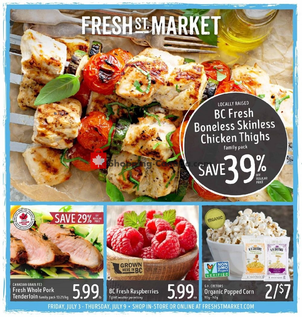 Flyer Fresh St. Market Canada - from Friday July 3, 2020 to Thursday July 9, 2020