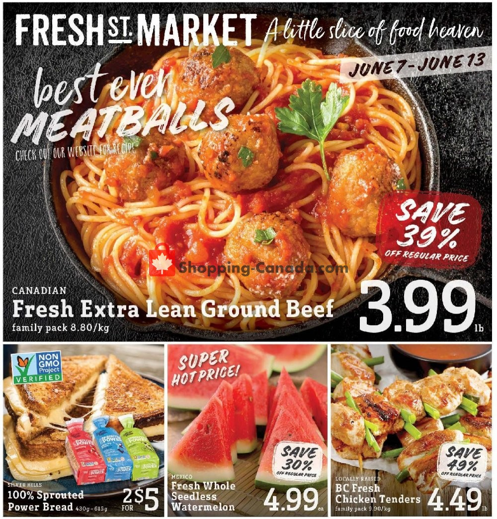 Flyer Fresh St. Market Canada - from Friday June 7, 2019 to Thursday June 13, 2019