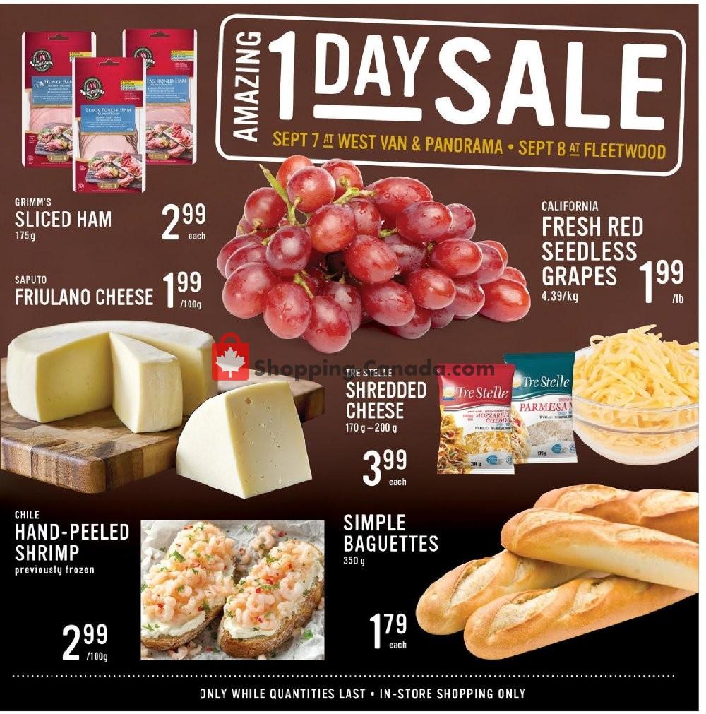 Flyer Fresh St. Market Canada - from Friday September 6, 2019 to Thursday September 12, 2019