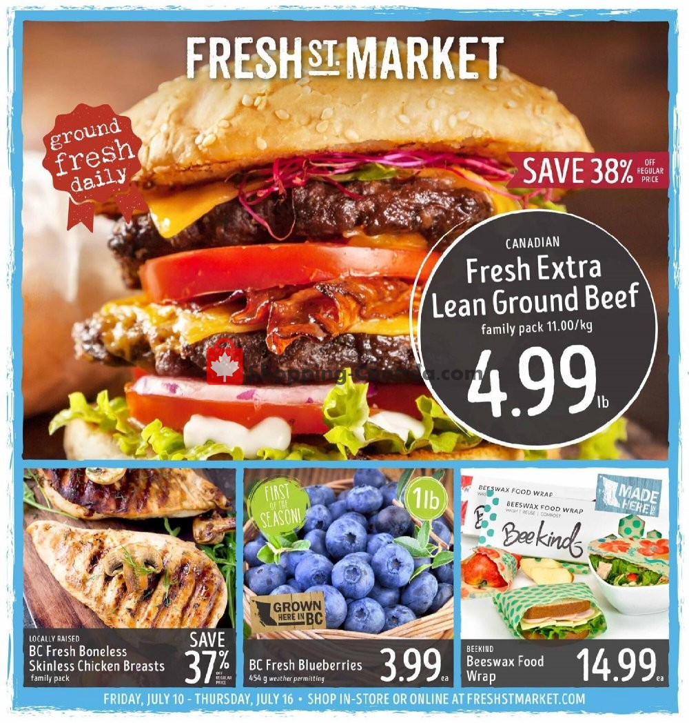 Flyer Fresh St. Market Canada - from Friday July 10, 2020 to Thursday July 16, 2020
