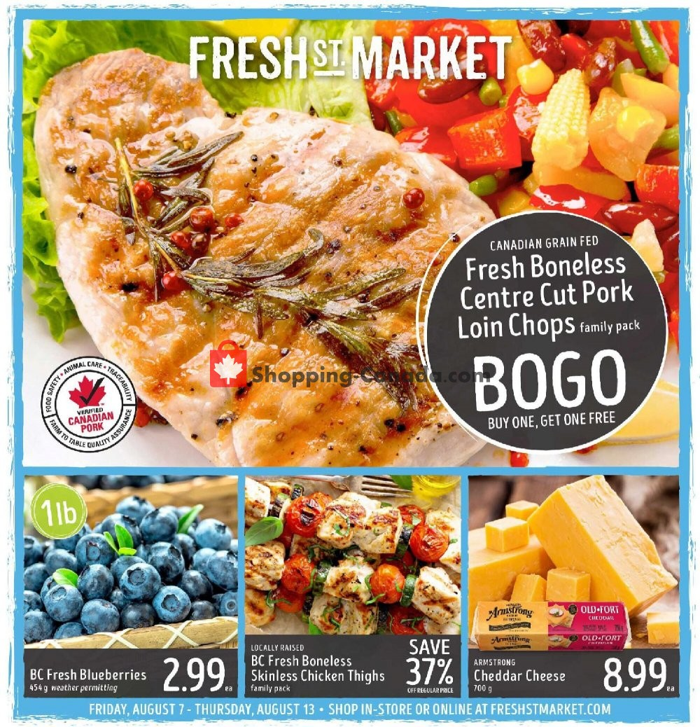 Flyer Fresh St. Market Canada - from Friday August 7, 2020 to Thursday August 13, 2020